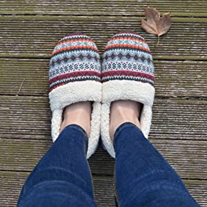 062a4ead8ca72 autumn shoes for women house slipper outdoor outside hardwood scuff faux  wool warm barefoot no socks