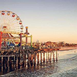 Santa Monica Pier, site of RockDove's humble beginnings as a shoe cobbler turned slipper-maker.
