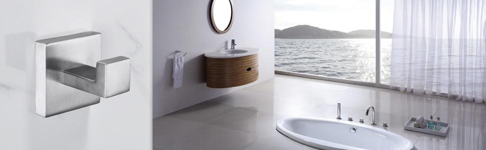 Amazon.com: Nolimas - Gancho para toallas de baño de níquel ...