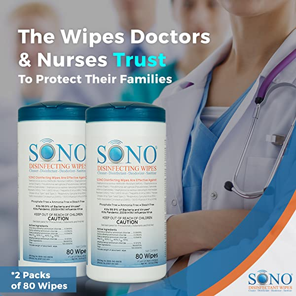 KILLS 99.9% OF BACTERIA & VIRUSES – As one of the most effective disinfecting wipes out there, SONO destroys germs you dont want hanging around.