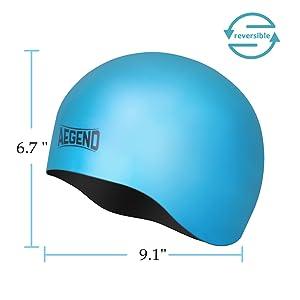 e1e969670f06b Amazon.com   Aegend Solid Silicone Swim Cap