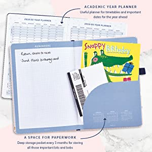Busy B Pretty 2019-20 Mid Year Busy Life Diary - with Dual schedules and Pockets
