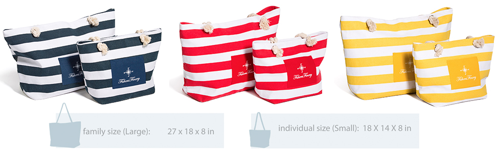 f4abed82ca Amazon.com  Fishers Finery Heavy Canvas Striped Beach Bag with Rope ...