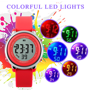 Amazon.com: Reloj digital deportivo impermeable para niñas ...