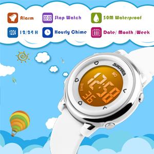 Amazon.com: Reloj digital luminiscente eléctrico con ...