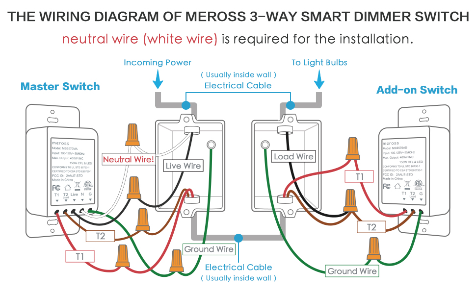 How To Wire A 3 Way Dimmer Switch Diagrams
