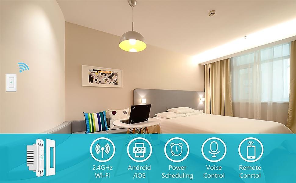 Meross Smart Wi Fi Wall Light Switch Amazon Alexa And