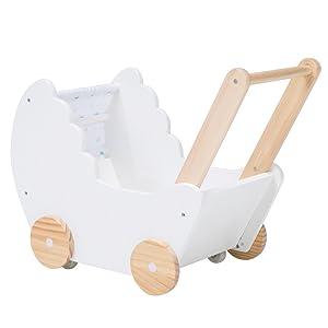 Amazon.com: Paseadores de muñeca de madera blanco 2 en 1 ...