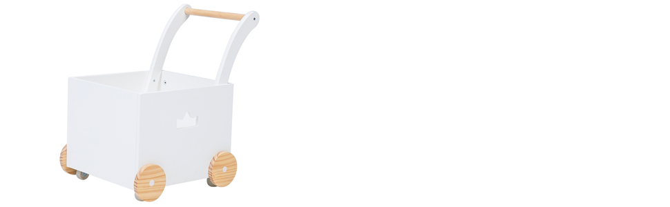 Amazon.com: Crown niños 2 en 1 blanco de madera Baby ...