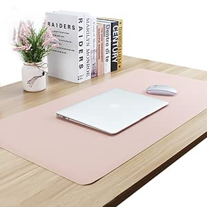 51x26inch ZFMG Premium PU Leather Mouse Mice Pad Dual Sided Waterproof-Extended Mouse Pad for Gaming Desk Decor Non-Slip Spill-Resistant,F,130x65cm Smooth Writing Blotter