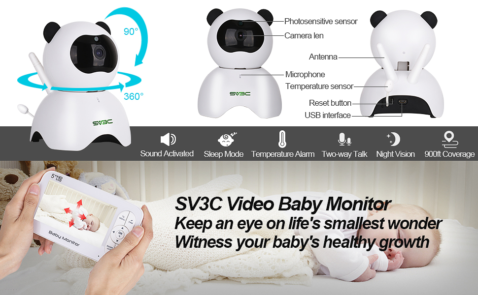 baby monitor camera and audio baby monitor two way talk baby monitor camera hd pan and tilt zoom cam