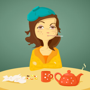 cold flu fever headache sore fatigue home remedies
