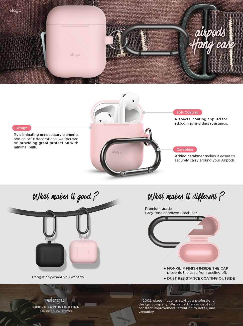 Amazon.com: elago AirPods Hang Case [Lovely Pink] - [Extra