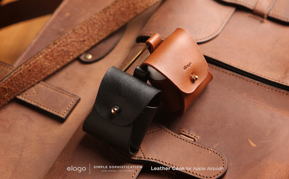 Elago Genuine Cow Leather Case for Airpods price in