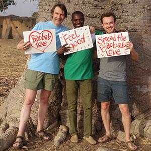Aduna Co-Founders Andrew & Nick with Julius, Director of Aduna Ghana