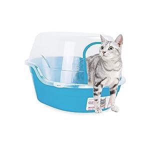Amazon.com: Petphabet caja de arena con tapa – Jumbo con ...