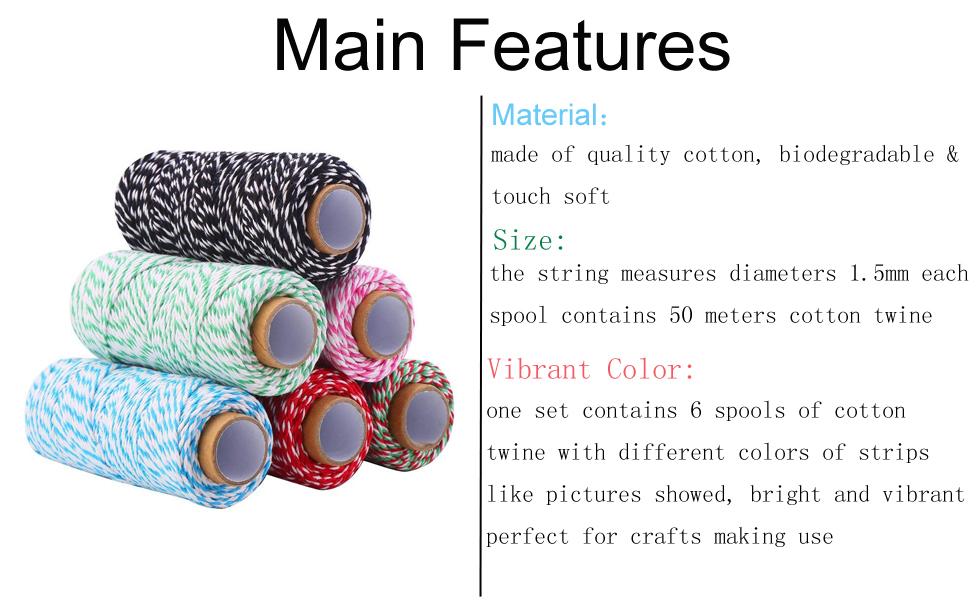 Main features of cotton bakers twine