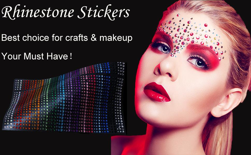DECORA Brand Rhinestone Stickers Sheet!