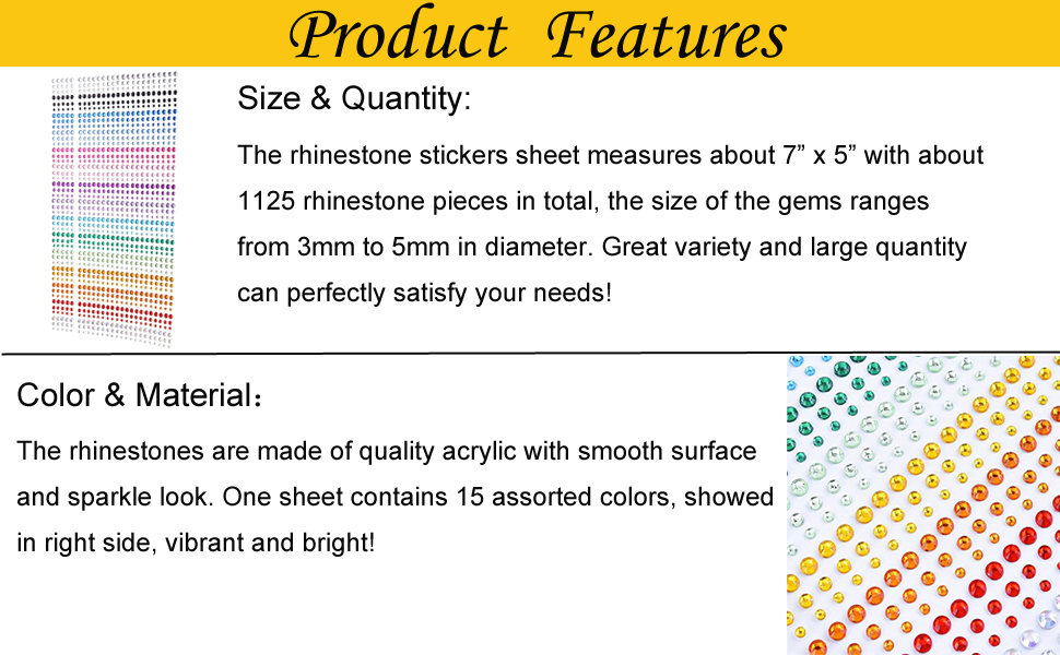 Product Features of Rhinestone Stickers