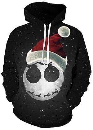 7a976916fbd2f2 FLYCHEN Men s Digital Print Sweatshirts Hooded Top Galaxy Pattern Hoodie