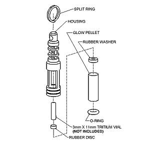 Amazon.com: TEC-SCR Isotope Cadena Reacción Fob - Brillan en ...