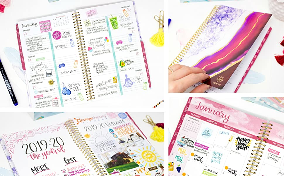 "bloom daily planners 2019-2020 Academic Year Weekly & Monthly Calendar Planner with Tabs and Flexible Soft Cover (August 2019 - July 2020) - 6"" x ..."