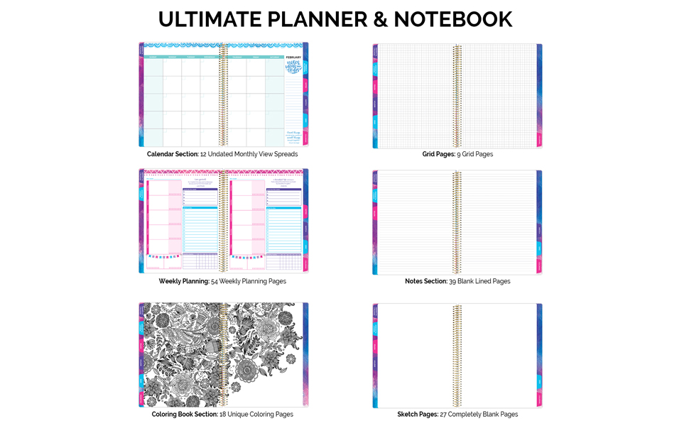 Amazon Bloom Daily Planners All In One Ultimate Monthly