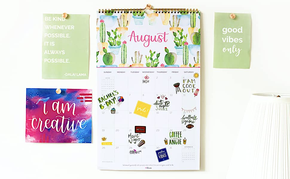 amazon com bloom daily planners 2018 2019 academic year hanging