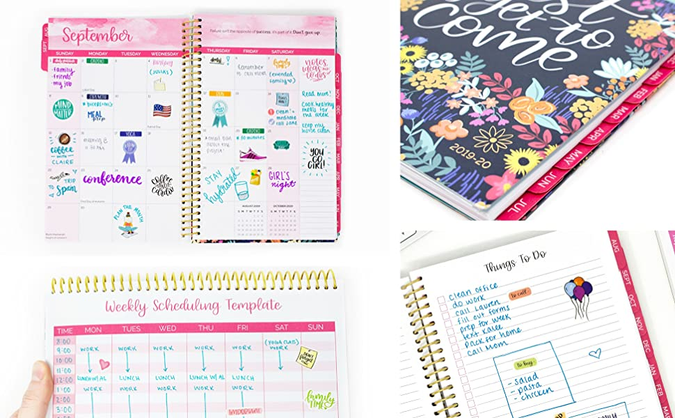 bloom daily planners 2019-2020 Academic Year Day Planner Calendar- Passion/Goal Organizer - Weekly/Monthly Dated Agenda Book - (August 2019 - July ...