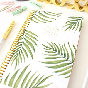 bloom daily planners 2018-2019 Academic Year Daily Planner Soft Cover Palm Leaves