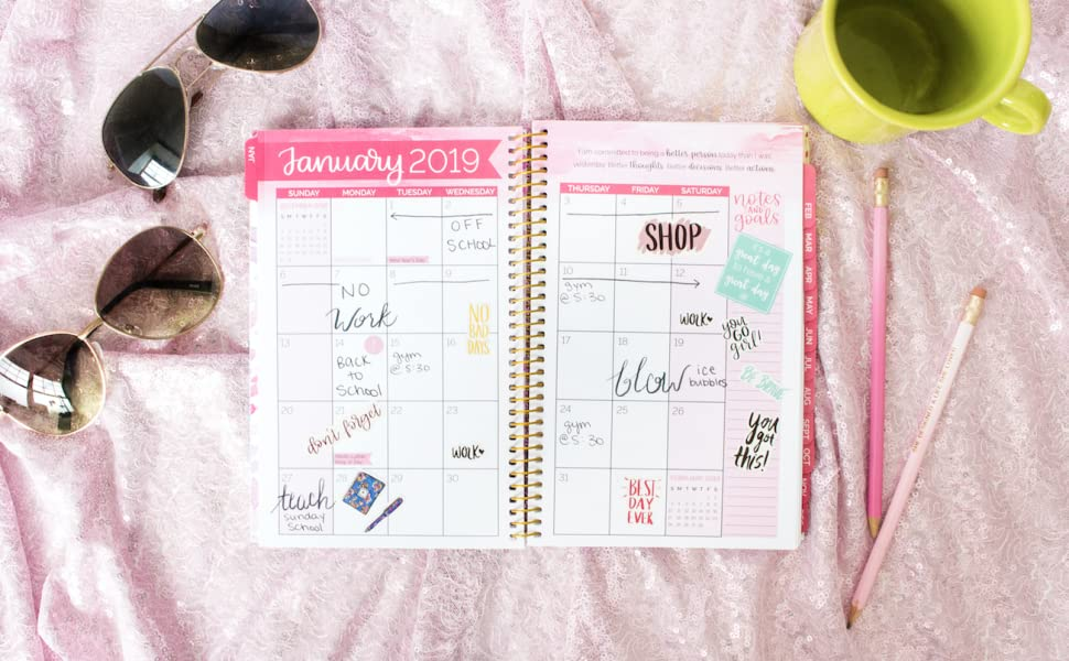 bloom daily planners 2019 Calendar Year Day Planner - Passion/Goal Organizer - Monthly and Weekly Dated Agenda Book - (January 2019 - December 2019) - ...