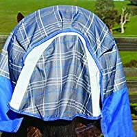 Image of covered tail flap on back of horse