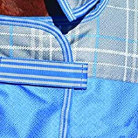 Detail shot of Embrace Wrap closure on front of blanket at chest