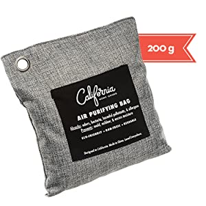 california home goods 200g charcoal bag carbon activated bamboo charcoal air purifier deodorizer bag