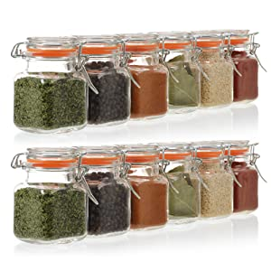 Gorgeous 3.4 Ounce Mini Clip Top Spice Jars For All Occassions