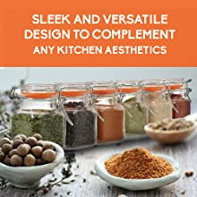 clear glass bottles with airtight lids spice containers with labels chalkboard spice jars