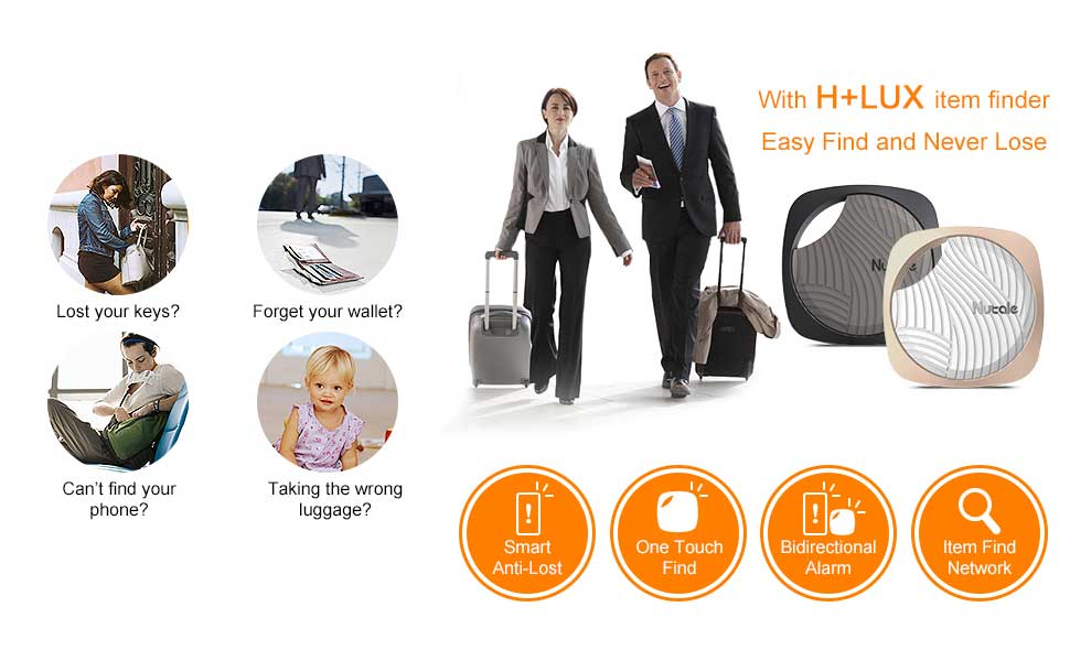Amazon.com: H+LUX Key Finder Smart Tracker, Phone Finder Bluetooth Tracker GPS Locator with Anti-Lost Alarm Reminder, Replaceable Battery and App Control for Phone, Car Key, Wallet, Backpack, Luggage, Pet, Black: Electronics