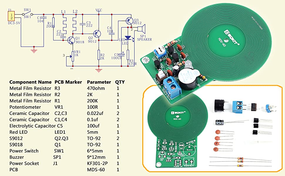 IS ICstation DIY Electronic Soldering Practice Kit, emble Simple Metal on