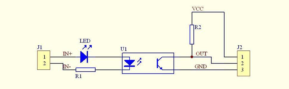 Amazon Com  Icstation 12v El817 1 Channel Optocoupler Isolation Board Positive Phase
