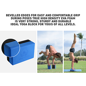 Yoga Block – High Density EVA Foam Bi-Color Exercise Block – Instantly Support and Improve Your Poses and Flexibility – Lightweight Versatile Fitness ...