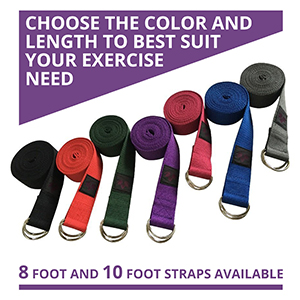 Multiple straps in different colors and lengths