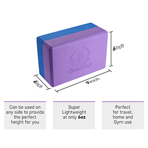 yoga block with dimensions