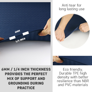 Picture of thick yoga mat and durable yoga mat