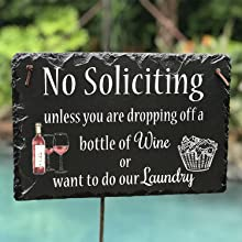No soliciting humor sign
