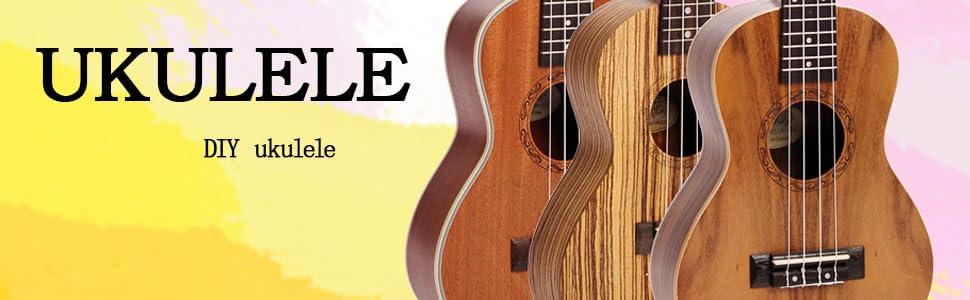 Amazon zimo diy ukulele make your own ukulele hawaii ukulele diy ukulele read more solutioingenieria Gallery