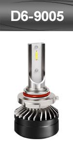 9005 HB3 H10 high beam led headlight headlamp head fog light adjustable CSP bulbs kit conversion