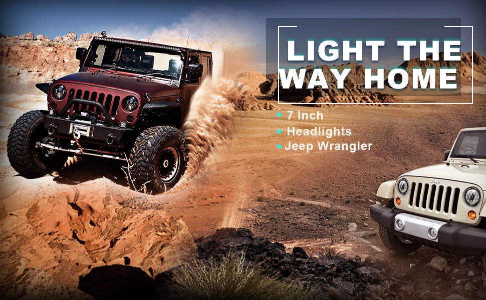 DOT Approved 7Inch Round LED Headlights For Jeep Wrangler TJ JK