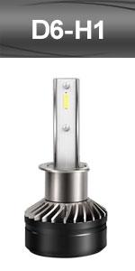 H1 high low beam led headlight headlamp head light adjustable CSP bulbs kit conversionfog