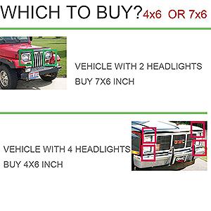 TURBOSII DOT Approved 4X6 LED Headlight Assemblies Hi/Lo Sealed Beam Replace H4651 H4656 Hid Bulb Headlamps KW Kenworth T600 W900 T800 Truck Peterbilt 379 Chevy S10 Blazer RV Freightliner Semi 4PCS