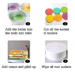 rainbow cake making